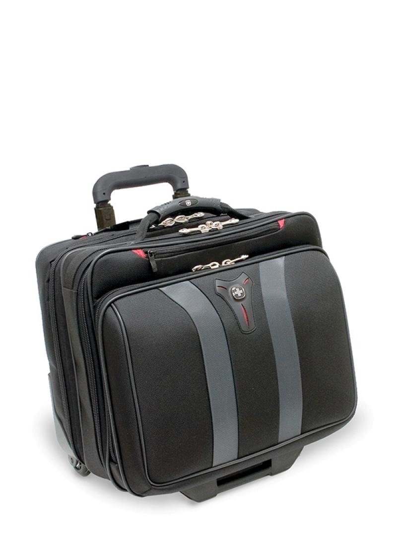 """Torba pilotka WENGER Granada, 17"""", 420x350x250mm, czarna/szara, Torby, teczki i plecaki, Akcesoria komputerowe"""
