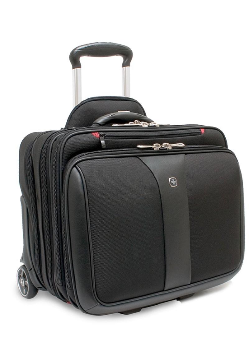 """Torba pilotka WENGER Patriot, 17"""", zestaw 2w1, 430x410x310mm, czarna/szara, Torby, teczki i plecaki, Akcesoria komputerowe"""