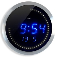 Wall clock, CEP LED, 30 cm, blue-black