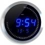 Zegar ścienny CEP LED, 30cm, niebiesko-srebrny, Zegary, Wyposażenie biura