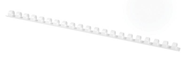 Grzbiety do bindowania OFFICE PRODUCTS, A4, 8mm (45 kartek), 100 szt., białe, Akcesoria do laminacji i bindowania, Prezentacja