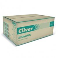 Ręczniki składane ZZ, zielone, LAMIX, cliver economic, 4000 listków, 1-warstwowe, Ręczniki papierowe i dozowniki, Artykuły higieniczne i dozowniki