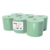 Ręczniki w roli zielone, LAMIX, 130m, 6 sztuk, 1-warstwowe,, Ręczniki papierowe i dozowniki, Artykuły higieniczne i dozowniki