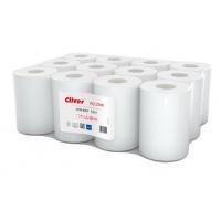 Ręczniki w roli białe, LAMIX, 65m, 12 sztuk, 1-warstwowe,, Ręczniki papierowe i dozowniki, Artykuły higieniczne i dozowniki