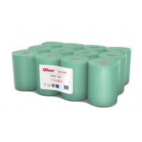 Ręczniki w roli zielone, LAMIX, 65m, 12 sztuk, 1-warstwowe,, Ręczniki papierowe i dozowniki, Artykuły higieniczne i dozowniki