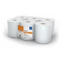 Ręczniki w roli białe, LAMIX, 120m, 6 sztuk, 2-warstwowe, celuloza, Ręczniki papierowe i dozowniki, Artykuły higieniczne i dozowniki