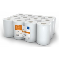 Ręczniki w roli białe, LAMIX, mini comfort, 60m, 12 sztuk, 2-warstwowe,, Ręczniki papierowe i dozowniki, Artykuły higieniczne i dozowniki