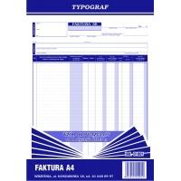 Faktura pion, A4, TYPOGRAF, 01001, Faktury, Druki akcydensowe