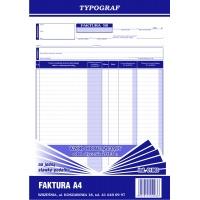 Faktura na jedną stawkę podatku, A4, TYPOGRAF, 01003, Faktury, Druki akcydensowe