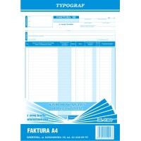 Faktura z ceną brutto (wielostaw. ), A4, TYPOGRAF, 01004, Faktury, Druki akcydensowe