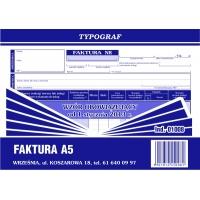 Faktura, A5, TYPOGRAF, 01008, Faktury, Druki akcydensowe