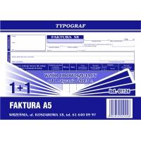 Faktura 1+1, A5, TYPOGRAF, 01124, Faktury, Druki akcydensowe