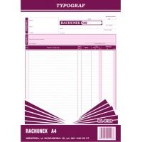 Rachunek, A4, TYPOGRAF, 01128, Rachunki, Druki akcydensowe