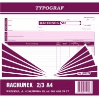 Rachunek, 2/3 A4, TYPOGRAF, 01129, Rachunki, Druki akcydensowe