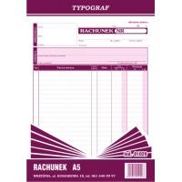 Rachunek Pion, A5, TYPOGRAF, 01029, Rachunki, Druki akcydensowe