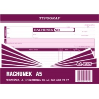 Rachunek Pozion, A5, TYPOGRAF, 01025, Rachunki, Druki akcydensowe