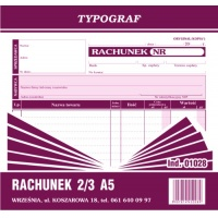 Rachunek, 2/3 A5, TYPOGRAF, 01028, Rachunki, Druki akcydensowe