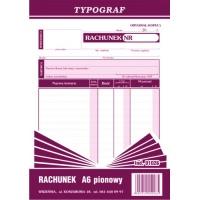 Rachunek Pion, A6, TYPOGRAF, 01026, Rachunki, Druki akcydensowe