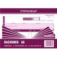 Rachunek Pozion, A6, TYPOGRAF, 01030, Rachunki, Druki akcydensowe