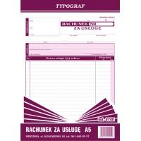 Rachunek za usługę, A5, TYPOGRAF, 01101, Rachunki, Druki akcydensowe
