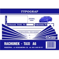 Rachunek Taxi, A6, TYPOGRAF, 01121, Rachunki, Druki akcydensowe