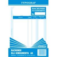 Rachunek dla konsumenta, A6, TYPOGRAF, 01084, Rachunki, Druki akcydensowe