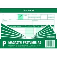 Magazyn przyjmie, A5, TYPOGRAF, 01033, Obrót towarowy, materiałowy i magazynowy, Druki akcydensowe