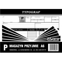 Magazyn przyjmie, A6, TYPOGRAF, 01081, Obrót towarowy, materiałowy i magazynowy, Druki akcydensowe