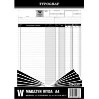 Magazyn wyda, A4, TYPOGRAF, 01038, Obrót towarowy, materiałowy i magazynowy, Druki akcydensowe