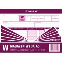 Magazyn wyda, A5, TYPOGRAF, 01034, Obrót towarowy, materiałowy i magazynowy, Druki akcydensowe