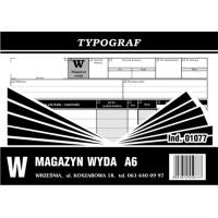 Magazyn wyda, A6, TYPOGRAF, 01077, Obrót towarowy, materiałowy i magazynowy, Druki akcydensowe