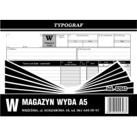 Magazyn wyda, A5, TYPOGRAF, 02043, offsetowy, Obrót towarowy, materiałowy i magazynowy, Druki akcydensowe