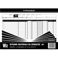 Wz, A4, TYPOGRAF, 01056, Obrót towarowy, materiałowy i magazynowy, Druki akcydensowe