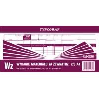 Wz, 2/3 A4, TYPOGRAF, 01031, (11 pozycyjne), Obrót towarowy, materiałowy i magazynowy, Druki akcydensowe