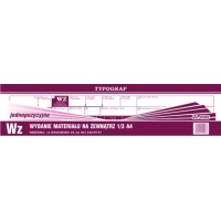 Wz, 1/3 A4, TYPOGRAF, 01093, (1 pozycyjne), Obrót towarowy, materiałowy i magazynowy, Druki akcydensowe