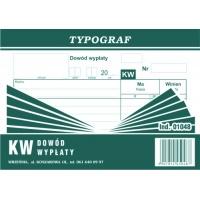 KW, dowód wypłaty, A6, TYPOGRAF, 01048, Druki kasowe i księgowe, Druki akcydensowe
