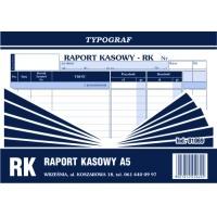 Raport kasowy, A5, TYPOGRAF, 01069, Druki kasowe i księgowe, Druki akcydensowe