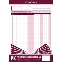 Polecenie księgowania, A4, TYPOGRAF, 02010, offsetowy, Druki kasowe i księgowe, Druki akcydensowe