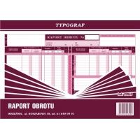 Raport obrotu, A4, TYPOGRAF, 02049, offsetowy, Druki kasowe i księgowe, Druki akcydensowe