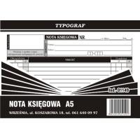 Nota księgowania, A5, TYPOGRAF, 01149, Druki kasowe i księgowe, Druki akcydensowe