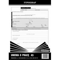 Umowa o pracę, A5, TYPOGRAF, 01070, Kadry i płace, Druki akcydensowe