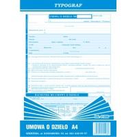 Umowa o dzieło z rachunkiem, A4, TYPOGRAF, 01096, Kadry i płace, Druki akcydensowe