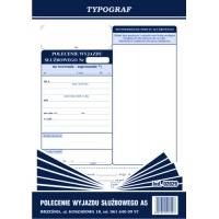 Polecenie wyjazdu służbowego, A5, TYPOGRAF, 02029, offsetowy, Kadry i płace, Druki akcydensowe