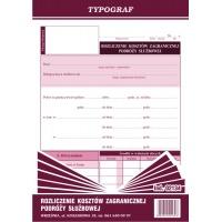 Rozliczenie kosztów zagranicznej podróży służbowej, A5, TYPOGRAF, 02134, offsetowy, Kadry i płace, Druki akcydensowe