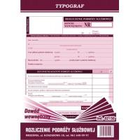 Dowód wewnętrzny - rozliczenie podróży służbowej, A5, TYPOGRAF, 02150, offsetowy, Kadry i płace, Druki akcydensowe