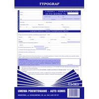 Umowa - pokwitowanie Auto Komis, A4, TYPOGRAF, 01192, Pozostałe, Druki akcydensowe