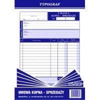 Umowa kupna sprzedaży, A5, TYPOGRAF, 01097, Pozostałe, Druki akcydensowe