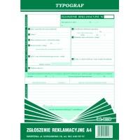 Zgłoszenie reklamacyjne, A4, TYPOGRAF, 01118, Pozostałe, Druki akcydensowe