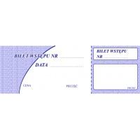 Bilet wstępu, 1/2 A6, TYPOGRAF, 02076, offsetowy, Pozostałe, Druki akcydensowe