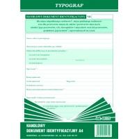 Handlowy dokument identyfikacyjny, A4, TYPOGRAF, 01172, Pozostałe, Druki akcydensowe